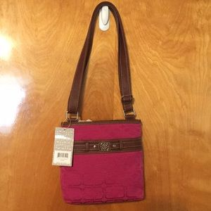 Brand new magenta and brown purse